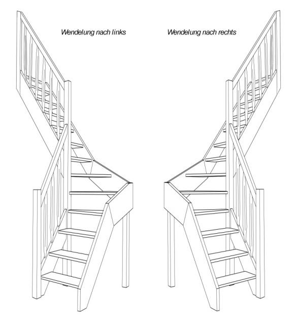 raumspartreppe 1 4 wendelung mittig fichte buche ebay. Black Bedroom Furniture Sets. Home Design Ideas