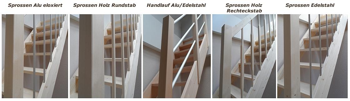raumspartreppe f r den kleinen platz 1 4 wendelung mittig 60 cm breit ebay. Black Bedroom Furniture Sets. Home Design Ideas