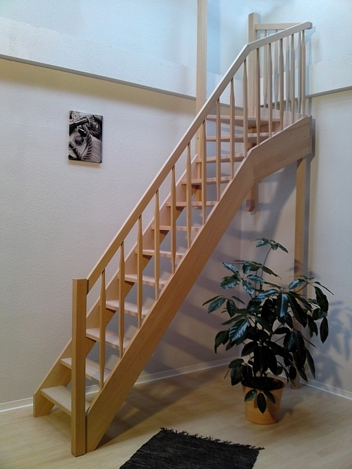 raumspartreppe 1 4 gewendelt oben gel nder au en ebay. Black Bedroom Furniture Sets. Home Design Ideas